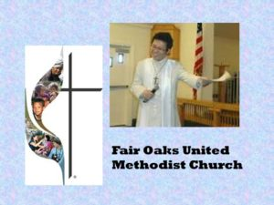 Preaching for Legacy Sunday at Fair Oaks UMC, 2013. Rev. Jeong Park, pastor.