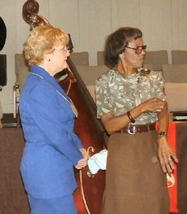 Preaching and teaching for United Methodist Women, with Rosa Washington-Olson, Davis, CA