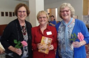 Betsy's book launch with mentor June Gillam and critique group member Debra Griffin