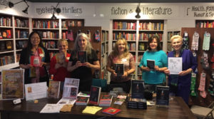 Authors' presentation at Face In A Book in Folsom, CA, June 2019