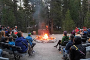 "Ranger talk in Tuolumne Medows, the high country of Yosemite National Park, ""Betsy's second home."